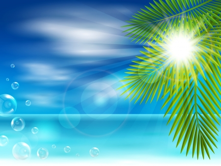 water s: Illustration of a beautiful sea beach Illustration