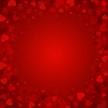 illustration beautiful background of hearts