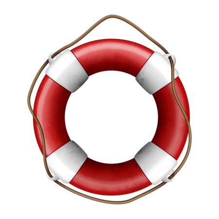 lifeline: Vector illustration of a lifebuoy on white background Illustration
