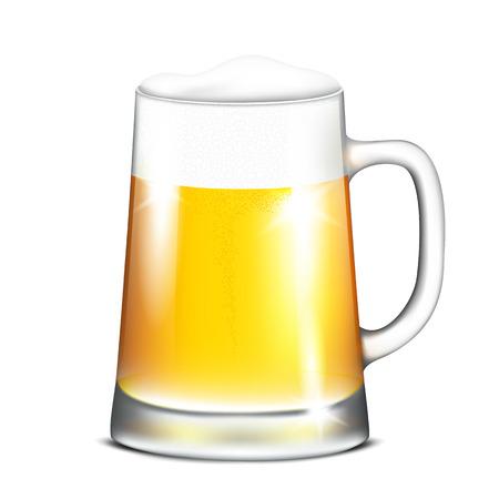 lager beer: Vector illustration of mug with beer on white background Illustration
