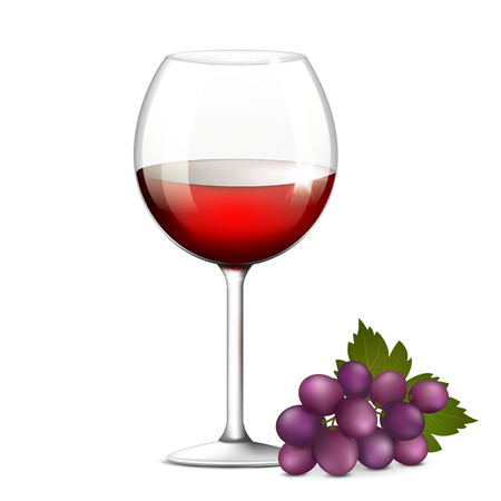 glass of red wine: Vector illustration of a glass of red wine Illustration