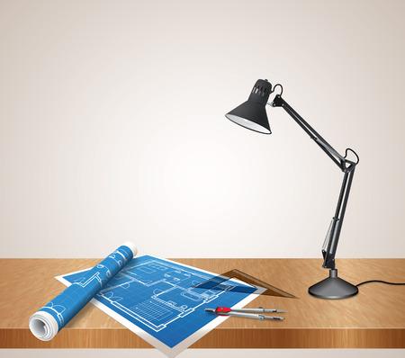 arquitecto: escritorio arquitecto Vectores