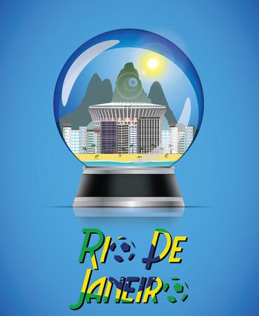 Rio snow globe