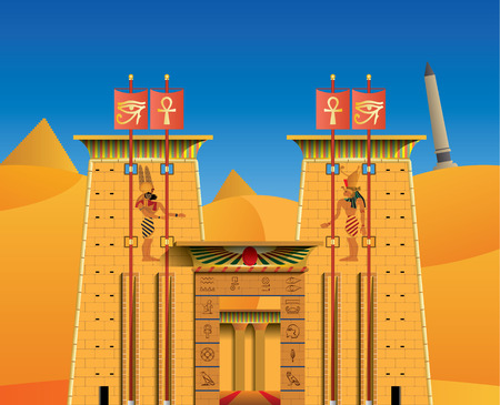 ancient civilization: acient egyptian temple