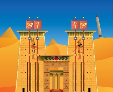 ancient civilization: acient egyptian temple