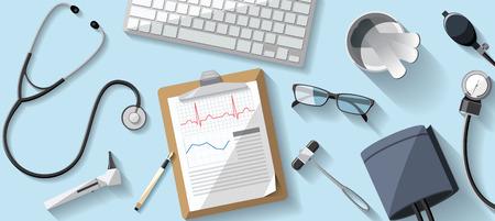 grupo de mdicos: Desk Doctor ilustraci�n