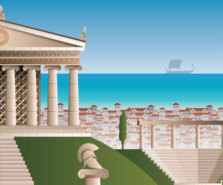 architrave: ancient Athens