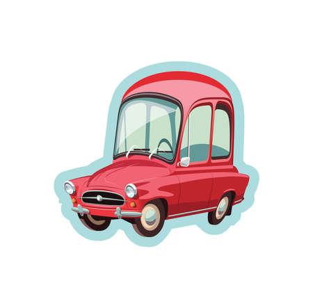 Little Czech red car 向量圖像