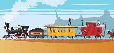 Wild west Steam train robbery