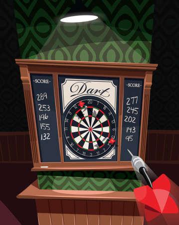 Dart board in pu 矢量图像
