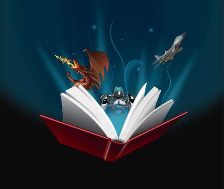 Magic book 向量圖像