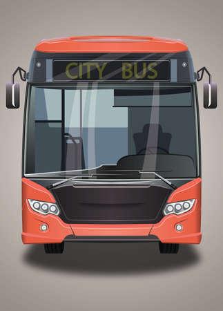 City bus 向量圖像