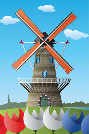 Netherlands windmill 版權商用圖片 - 157069820
