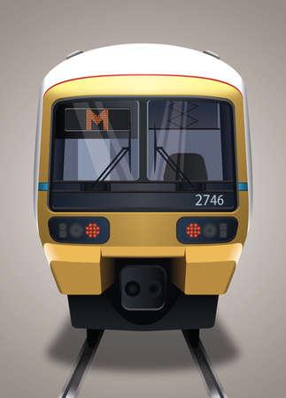 Metro train Illustration