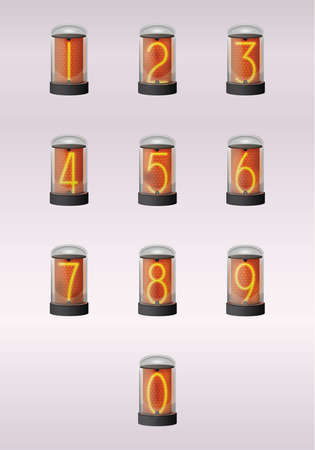Ten digits of nixie clock