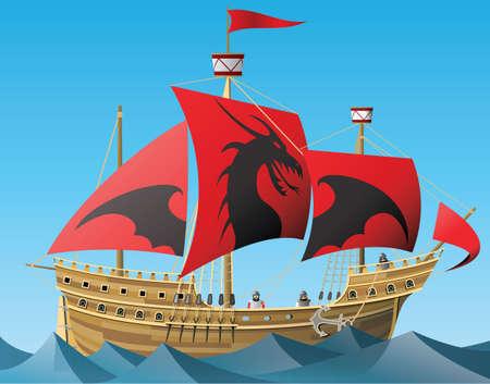 Sailing ship 版權商用圖片 - 157069874