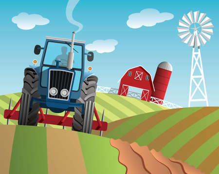 Farm illustration Vettoriali