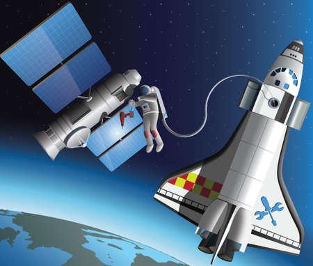 Space service illustration