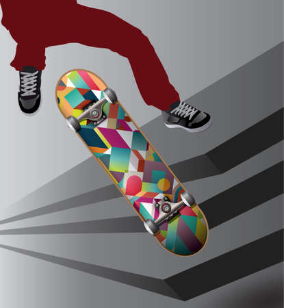Skateboarding stock illustration 向量圖像