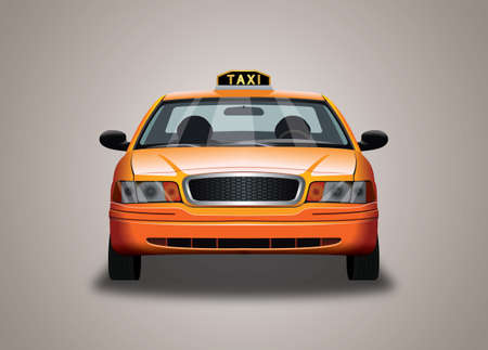 Taxi cab illustration 向量圖像