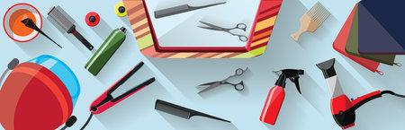 hairdressing salon flat illustration