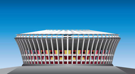 Football stadium illustration 向量圖像