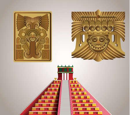 Mayan symbols 版權商用圖片 - 157320432