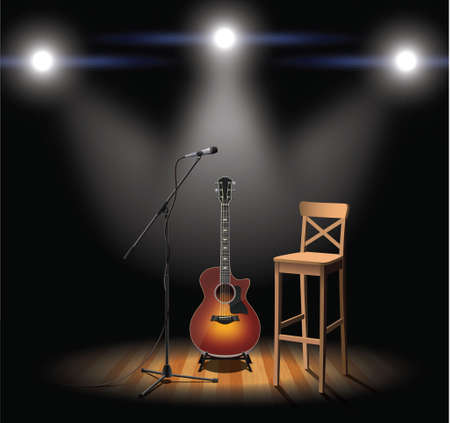 Acoustic scene Ilustração Vetorial