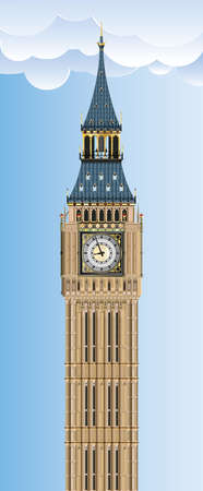 Big ben illustration 向量圖像