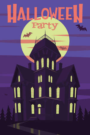Halloween party poster illustration