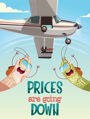 Prices are going down,sale background illustration
