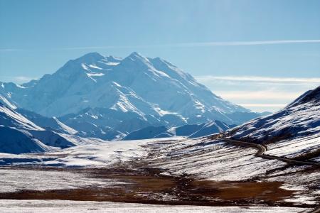 polychrome: Kantishna road in Denali NP near Polychrome Pass with Alaska Range