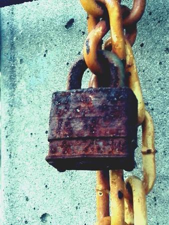 rusty chain: Rusty Lock and Chain