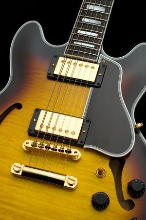 Guitar Gold Stock Photo