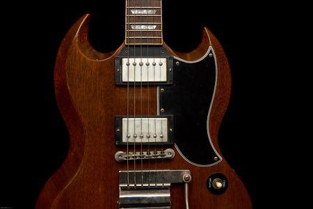 tremolo: Vintage Style Gibson SG indossati pozzo 1964  Archivio Fotografico