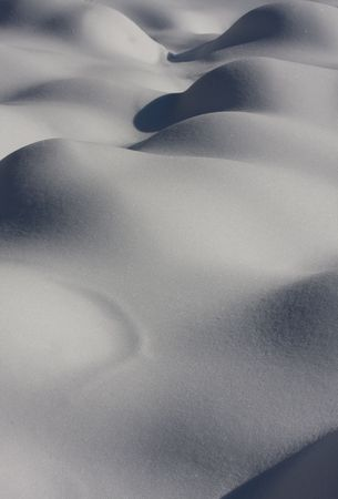 Abstract shapes and patterns of snow covered hills. photo