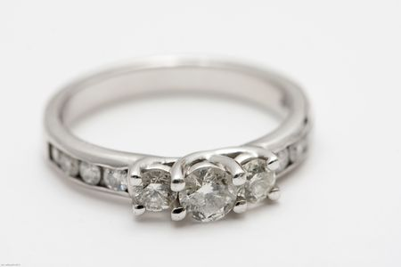 wedding band with diamonds set in white gold