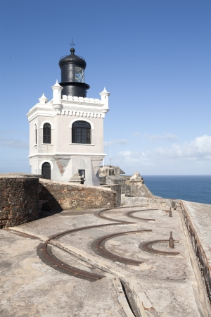 juan: Fort in old san juan puerto rico ruins old delapidated block lighthouse