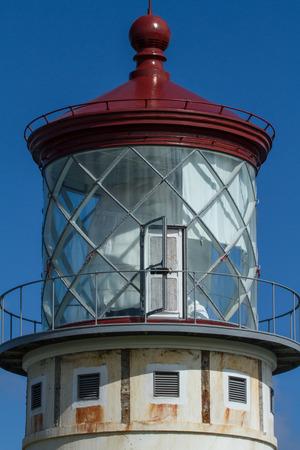 kauai: close up lighthouse kailua hawaii kauai Stock Photo