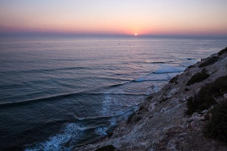 shore line: landscape of tagazout shore line morocco africa
