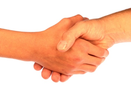 men shaking hands: Handshake