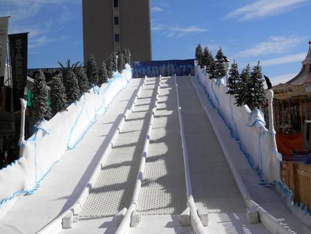 slope: ski slope Stock Photo