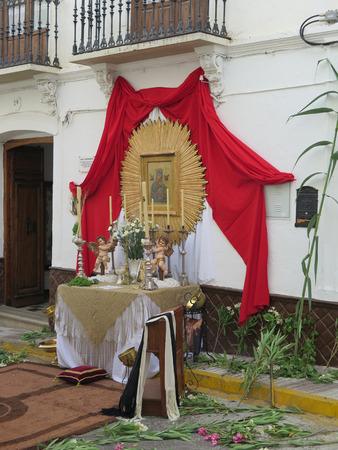 alter: Corpus Christi Alter in Alora Street Sunday June 7th 2015