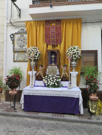 corpus: Corpus Christi Alter in Alora Street Sunday June 7th 2015