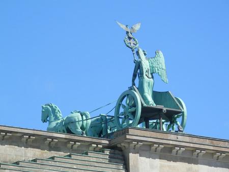 brandenburg gate: Brandenburg gate seen from the old East Berlin side