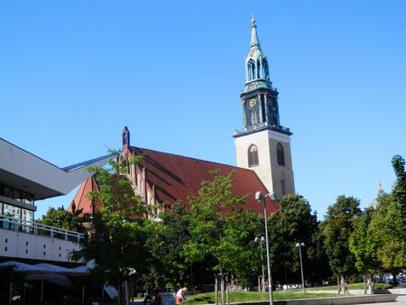 st german: St. Marys Church known in German as the Marienkirche is a church in Berlin Germany