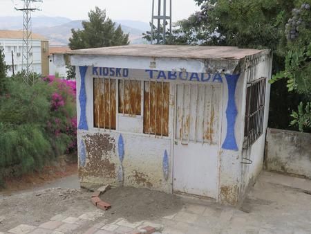 kiosk: Small ice cream and sweets kiosk on Alora roadside Stock Photo
