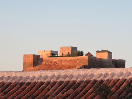 andalucia: Arabic castle of Alora Andalucia viewed over rooftops