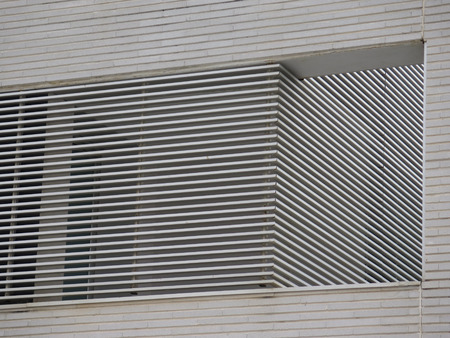 slits: Detail of modern building wall with brick slits