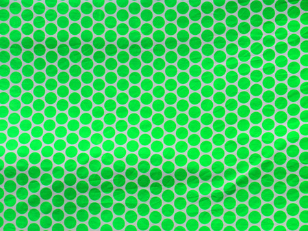 polka dotted: Green Polka dotted cloth on float at local fiesta in Alora, Andalucia